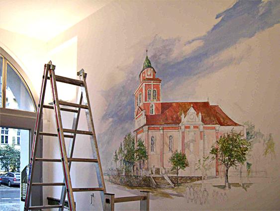 Atelier holger barthel innenarchitektur harz reisestation - Wandmalerei ideen ...